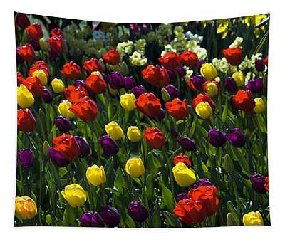 Colorful Tulip Field Tapestry