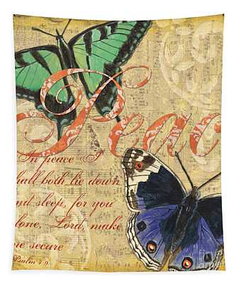 Musical Butterflies 2 Tapestry