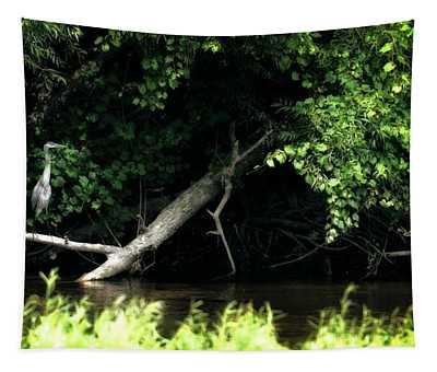 Muskegon River Heron Tapestry