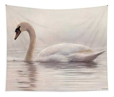 Mute Swan Painting Tapestry