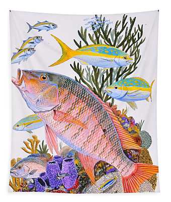 Mutton Snapper Reef Tapestry