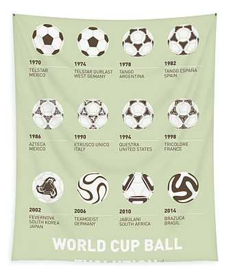 My Evolution Soccer Ball Minimal Poster Tapestry