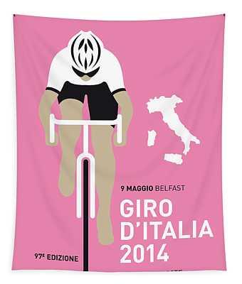 My Giro D Italia Minimal Poster 2014 Tapestry