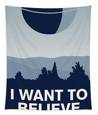 My I Want To Believe Minimal Poster-deathstar Tapestry