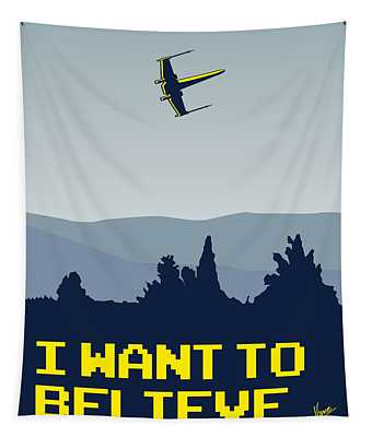 My I Want To Believe Minimal Poster- Xwing Tapestry