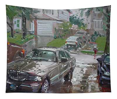 My Lincoln In The Rain Tapestry