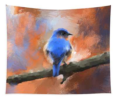 My Little Bluebird Tapestry
