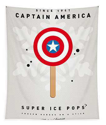My Superhero Ice Pop - Captain America Tapestry
