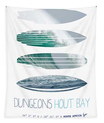 My Surfspots Poster-4-dungeons-cape-town-south-africa Tapestry