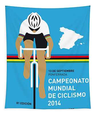 My Uci Road World Championships Minimal Poster 2014 Tapestry