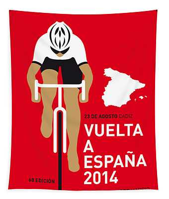 My Vuelta A Espana Minimal Poster 2014 Tapestry