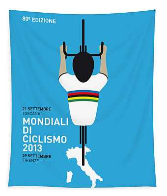 My World Championships Minimal Poster Tapestry
