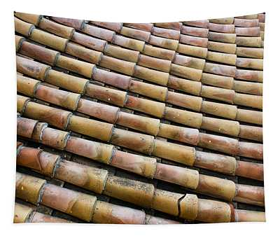 Nafplio Roof Tiles Tapestry