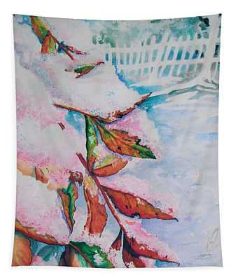 Nandina In Snow Tapestry