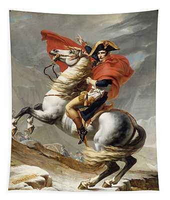 Napoleon Bonaparte On Horseback Tapestry