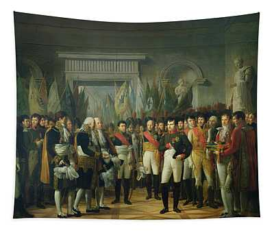Napoleon I 1769-1821 Receiving The Deputies Of The Conservative Senate At The Royal Palace Tapestry
