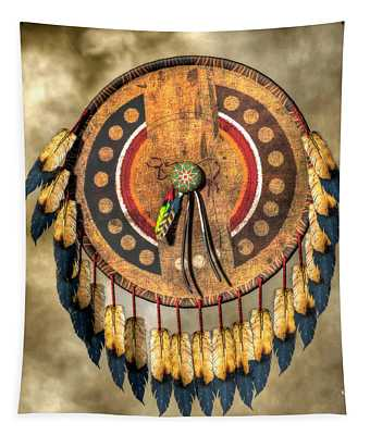 Native American Shield Tapestry