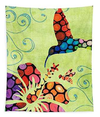 Nature's Harmony 2 - Hummingbird Art By Sharon Cummings Tapestry