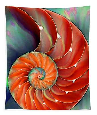 Nautilus Shell - Nature's Perfection Tapestry