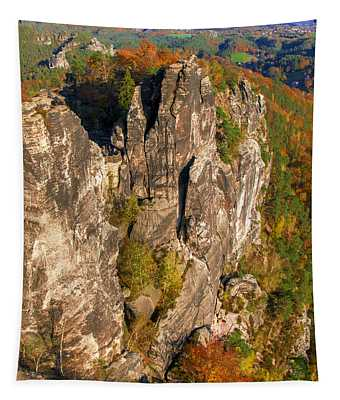 Neurathen Castle In The Saxon Switzerland Tapestry