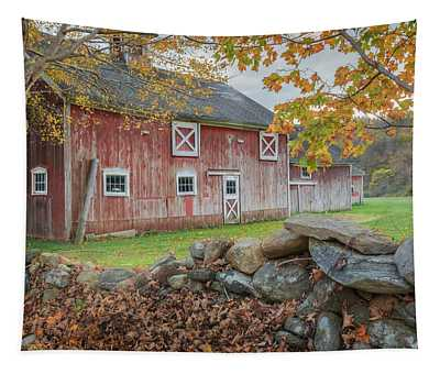 New England Barn Tapestry