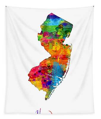New Jersey Map Tapestry