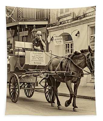 New Orleans - Carriage Ride Sepia Tapestry