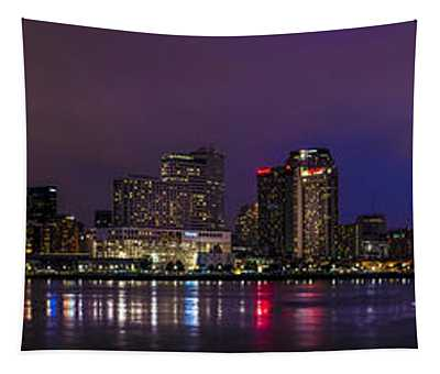 New Orleans Skyline Tapestry