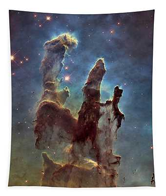 New Pillars Of Creation Hd Square Tapestry