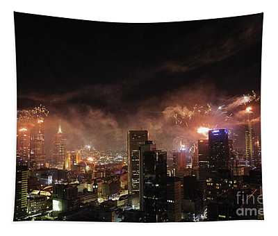 New Year Fireworks Tapestry