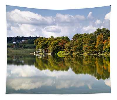 Tapestry featuring the photograph New York Cincinnatus Lake by Christina Rollo
