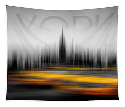 New York City Cabs Abstract Tapestry