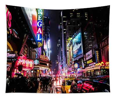 New York City Night Tapestry