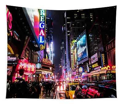 New York City Night Tapestry