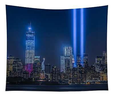 New York City Tribute In Lights Tapestry