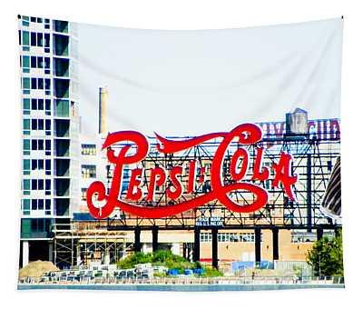 New York Pepsi Sign Tapestry