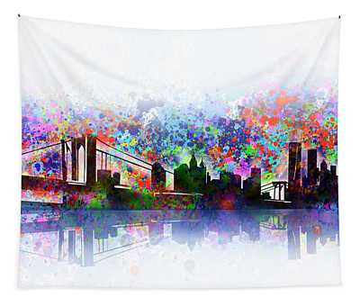 New York Skyline Splats 2 Tapestry
