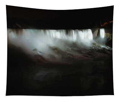 Niagara Falls By Night Tapestry