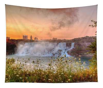 Niagara Falls Canada Sunrise Tapestry