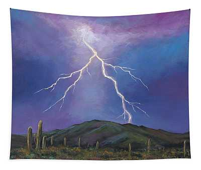 Night Strike Tapestry