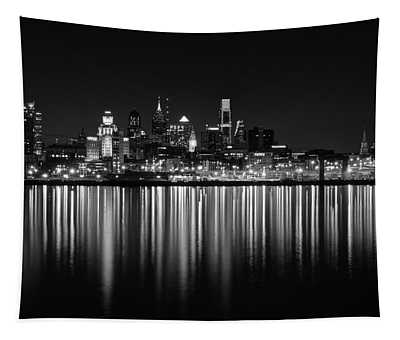 Nightfall In Philly B/w Tapestry