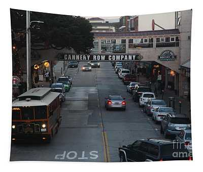 Nightfall Over Monterey Cannery Row California 5d25143 Tapestry