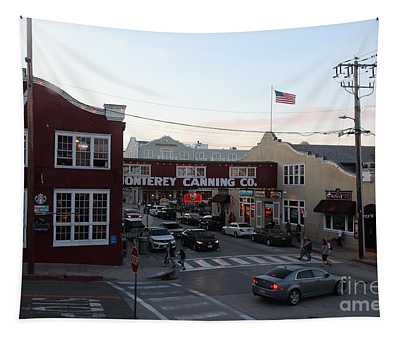 Nightfall Over Monterey Cannery Row California 5d25146 Tapestry