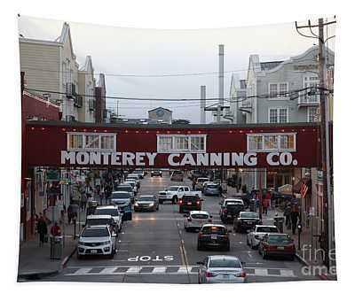 Nightfall Over Monterey Cannery Row California 5d25153 Tapestry