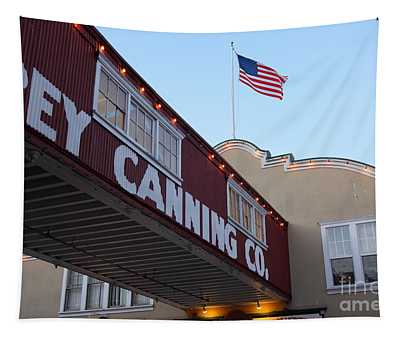Nightfall Over Monterey Cannery Row California 5d25163 Tapestry