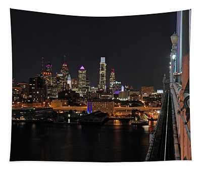 Nighttime Philly From The Ben Franklin Tapestry