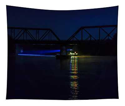 Nighttime Tug Tapestry