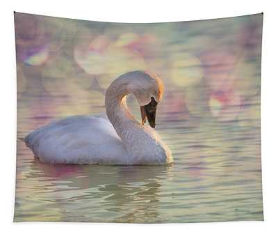 Shy Swan Tapestry