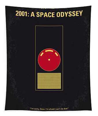 No003 My 2001 A Space Odyssey 2000 Minimal Movie Poster Tapestry