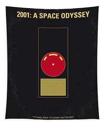 No003 My 2001 A Space Odyssey 2000 Minimal Movie Poster Tapestry